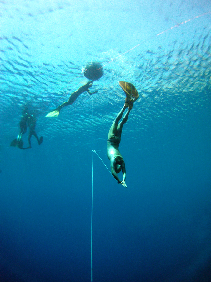 During a training session at the Blue Hole- Photo credit Linda Paganelli