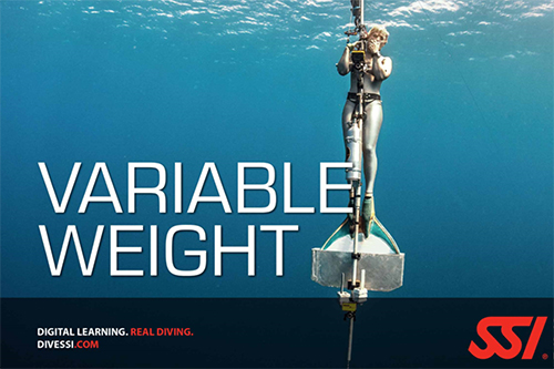 Freediving in variable weight SSI specialty